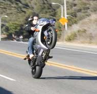 Fabio on Bike - Wheelie